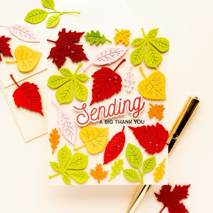 Spellbinders   October Clubs - Small Die, Large Die, Glimmer and Clear Stamp Cards