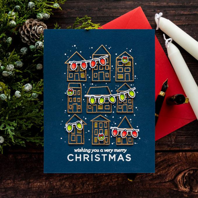 Simon Says Stamp   Printmaking Houses for Christmas