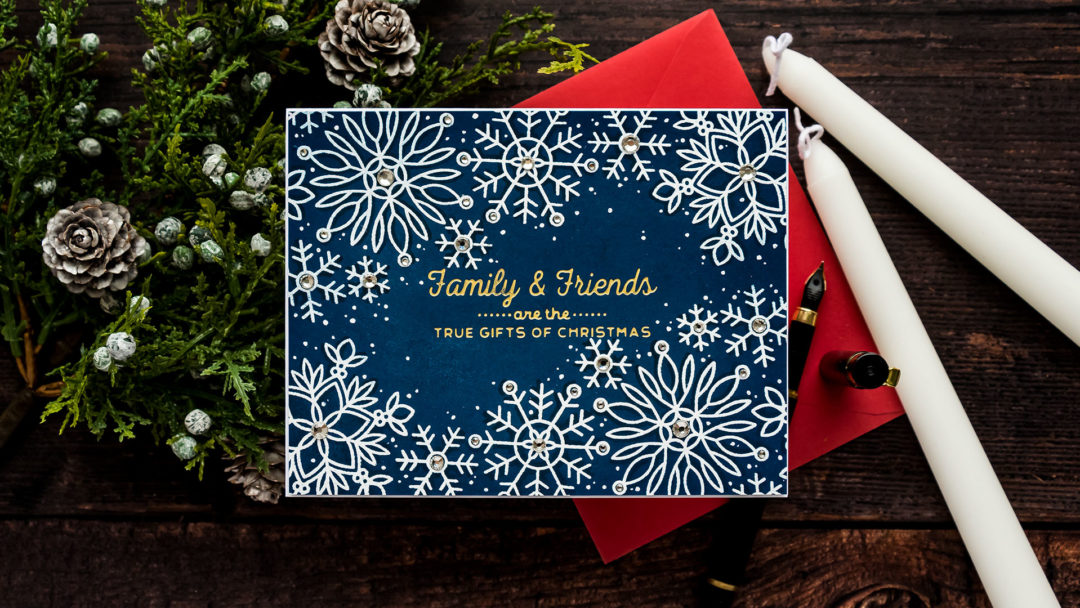Simon Says Stamp   Snowflake Edges - Combining Hot Foil Stamping & Heat Embossing. Video