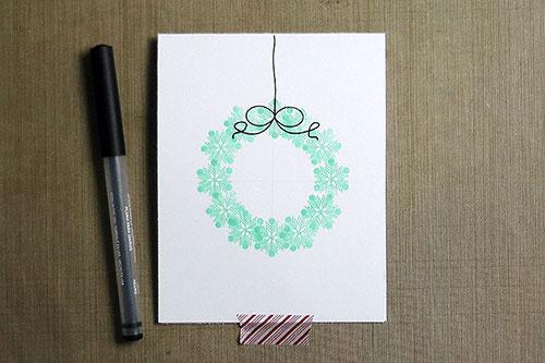 Майстерня Різдвяних Листівок 2014. День 9 Віночки у новорічних листівках
